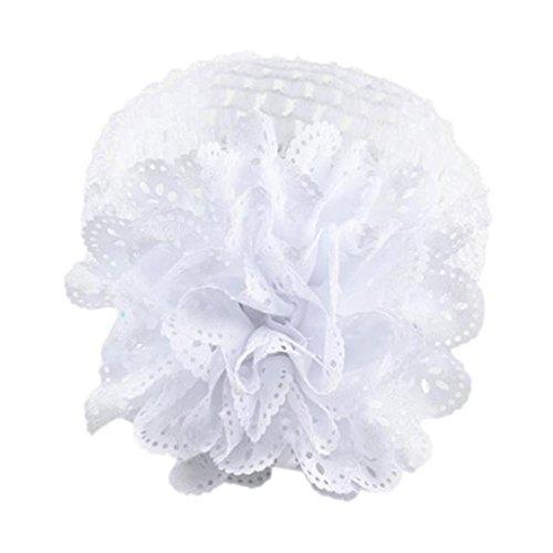 Stirnband, erthome Kinder Baby Mädchen Spitze Blume Haarband Stirnband Dress Up Kopfband (Weiß)