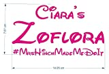 CCG 2x Personalised Zoflora & Lenor Spray Bottle Sticker Inspired By Mrs Hinch Army