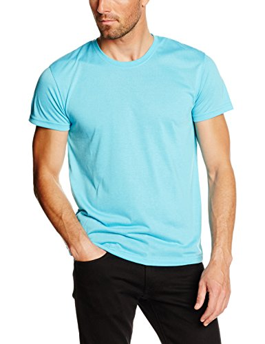 Clique Herren T-Shirts Neon Blue (Neon Blue), Small