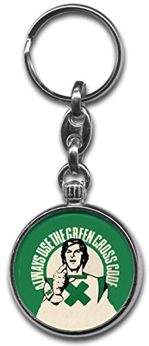 Green Cross Code Keyring