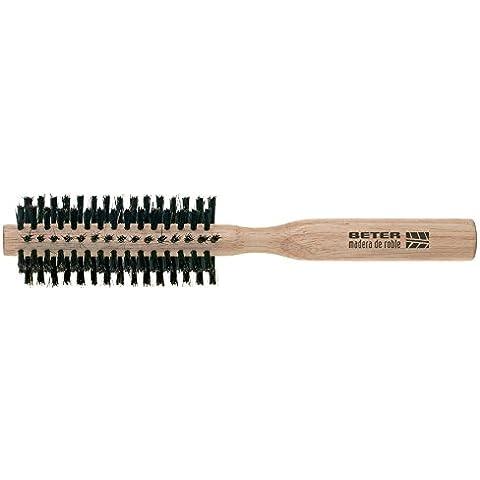 Beter - Cepillo redondo con cerdas naturales - 8 hileras - 1 unidad