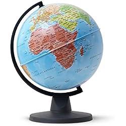 Tecnodidattica–Globo terráqueo Mini mapa mundi, 16cm