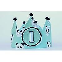 Corona del bambino di compleanno panda, ornamento di fotografia, regalo di compleanno