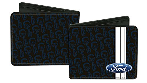 ford-automobile-company-engine-parts-collage-bi-fold-wallet