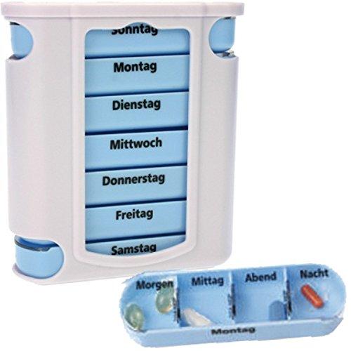 na und 17384 Pillendose 7 Tage Pillenbox Tablettendose Tablettenbox Tower