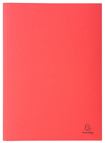 Exacompta 389003B Aktendeckel (Recycling-Karton, gerilltem Rücken, Kapazität bis 350 Blatt, 250g, DIN A4) 100er Pack rot
