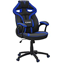 Woxter Stinger Station Alien Blue - Silla gaming (Eje de acero,Levantamiento (Gas