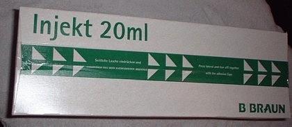 Braun Injekt Spritzen mit exzentrischem Konus Luer-Ansatz, 100 Stck, 20 ml