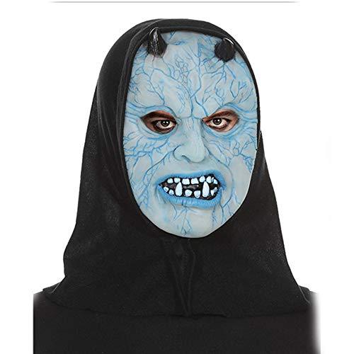 Bearn Halloween Adult Child Spielen Ghost Horror Monster Vampire Kürbis Leuchtmaske Weich-PVC-Maske (Machen Sie Ihre Eigenen Kostüm Billig)