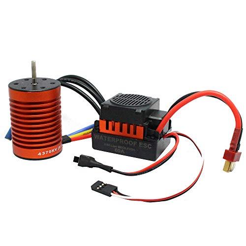 Skryo 9T 4370KV Brushless Motor + 60A Drehzahlregler Combo ME720 für 1/10 RC - Stecker Ausgang Kostüm