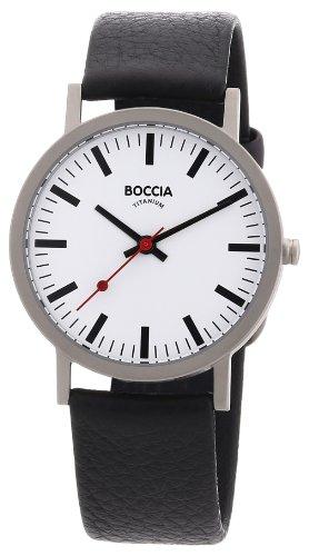 Boccia Herren-Armbanduhr Leder 521-03