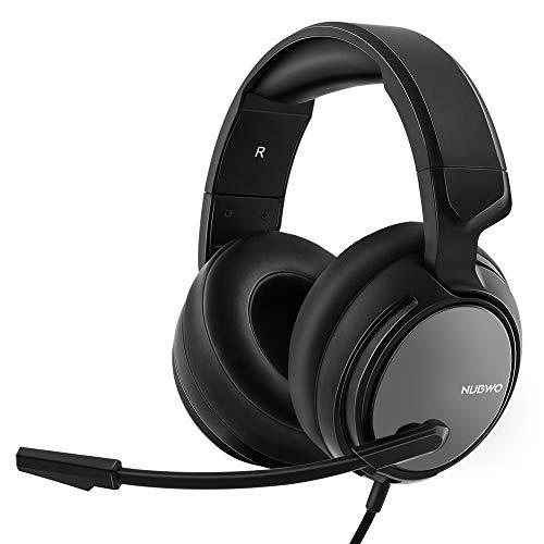 NUBWO N12 Xbox One PS4 Gaming Headset, Stereo Verdrahtete Gaming Kopfhörer mit Lautstärkeregelung & Stummschaltung, Über Ohrkopfhörer mit Geräuschminderung MIC für Xbox 1S,Nintendo Switch-Silber (One Für Stereo-headset Xbox)