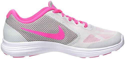 Nike Revolution 3 (Gs), Scarpe da Corsa Bambine e Ragazze Multicolore (Pure Gris Platinum/pink Blast-wolf Grey-white)