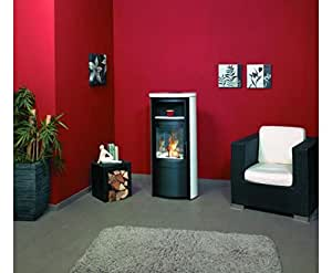 ethanol kaminofen dekokamin dekofeuer hark cenzo keramik creme wei baumarkt. Black Bedroom Furniture Sets. Home Design Ideas