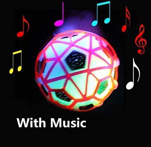Bouncy Ball Mit Led-Licht Blinkt Ball Bouncing Fußball Batteriebetriebenes Spielzeug für Kinder (Gelegentliche Farbe) ()