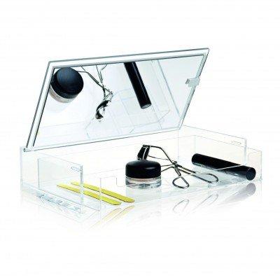 Rangement Maquillage Transparent avec Miroir ' Clear Mirror Box - Nomess Copenhagen
