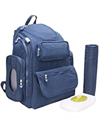 MagiDeal 24L Diaper Mummy Bag Multi-Function Waterproof Travel Backpack Nappy Bags Baby Care - Blue, 24L
