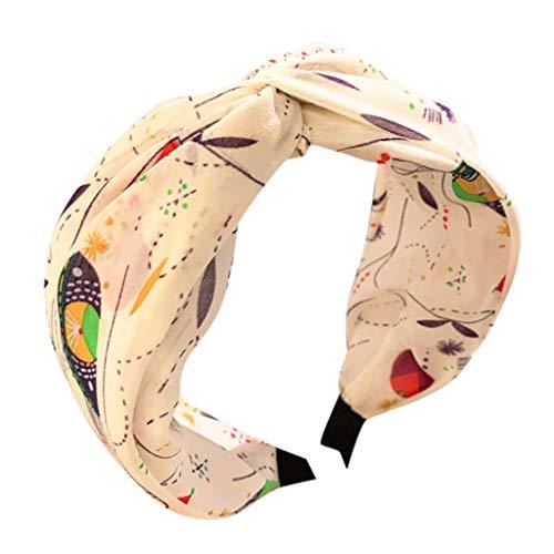 TMOTYE Damen Haarband Sommer,❀Frauen SchöNer Haarbänder Elegant Haarschmuck Stoff Spitze Stirnband breite Seite Mitte Kreuz Knoten Bogen Stirnband Haarnadel Kopfbedeckung