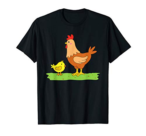 Huhn TShirt Henne Küken Bauernhof Kinder Damen Herren T-Shirt -