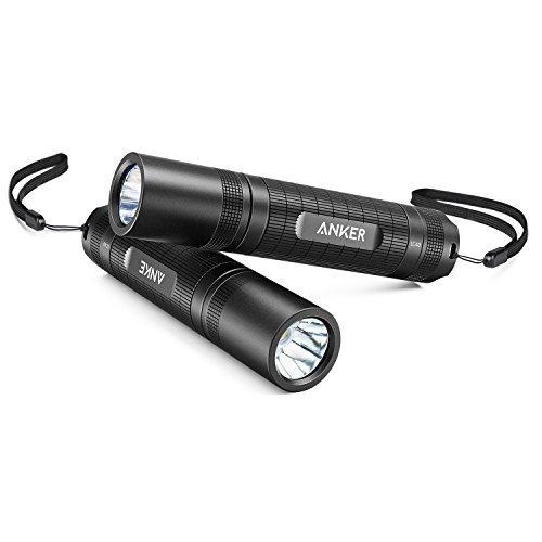 Anker LC40 2-Pack LED Taschenlampe, Superhell 400 Lumen Cree LED, IP65 Wasserfest, 3 Einstellungen Hell/Niedrig / Blinkfunktion für Campen, Wandern, Fahrradfahren und Notfälle
