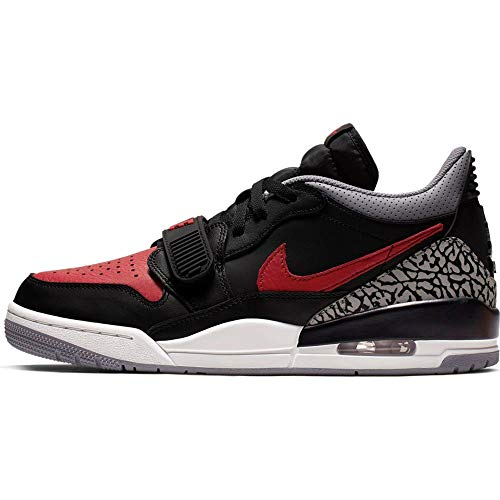 Nike Air Jordan Legacy 312 Low - black/varsity red-black-cement grey, Größe:9.5