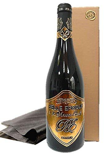 Luxus Geschenk für Bordeaux-Liebhaber   Belle Epoque á la Maison Laufèr   im Eichenholzfass gereift   gold Box   für verwöhnte Weinkenner   Weihnachten   Geschenkset Frankreich Syrah