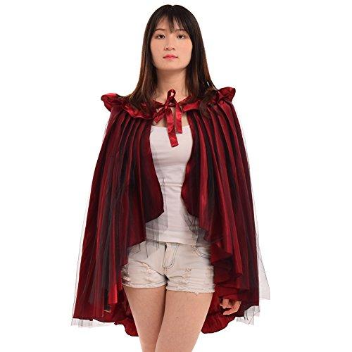 BLESSUME Damen Viktorianisch Gotisch Steampunk Spitze Chiffon Rock Lolita Gothic ()