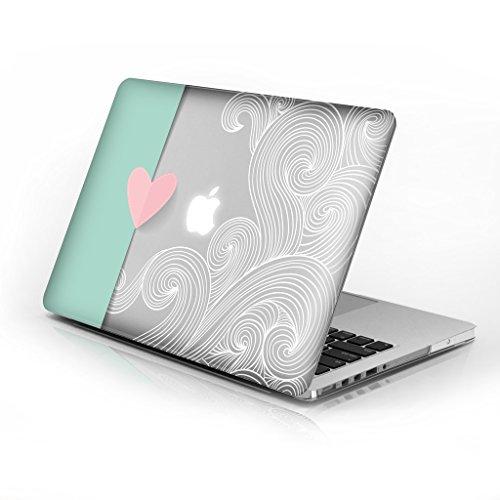 für MacBook Air 33cm Modellnummer A1369und A1466, Series 5Design mit klarer Boden Fall, kommen mit Tastatur Cover Lovely Heart 33 cm (13 Zoll) ()