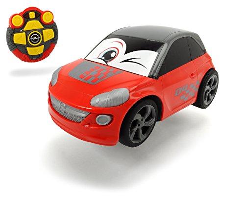 ferngesteuertes auto fuer 2 jaehrige Dickie Toys 203814030 - RC Happy Opel Adam, ferngesteuertes Spielzeugauto mit Licht und Sound, für Kleinkinder ab 2 Jahren, 26,5cm