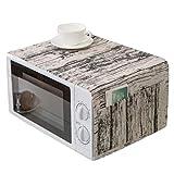 Yinew Oven Cover Striped Pattern Mikrowellenabdeckung Mit Aufbewahrungsorganisator Taschen Mikrowelle Anti-Öl-Schutz