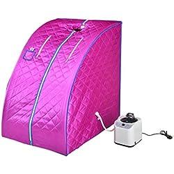 &Entgiftung Dampfsauna, Portable Home Indoor Personal Spa Abnehmen Ganzkörper Detox abnehmen ( Farbe : Lila )