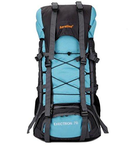 tomill 60L Rucksack Nylon Outdoor Sport Camping Bergsteigen Tasche Wandern Rucksack Große Kapazität für Reisen Hellblau