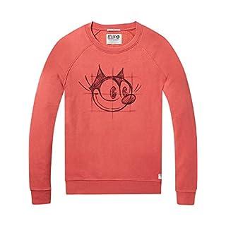 Scotch & Soda Herren Sweatshirt AMS Felix The Cat Artwork, Rot (Red Glow 2133), Medium