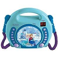 Disney Frozen Lector CD Portátil con 2 Micros, a Partir de 3 años (Lexibook RCDK100FZ), Color Azul