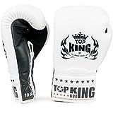 Top King Super Comp à Lacets Gants de Boxe Blanc et Noir