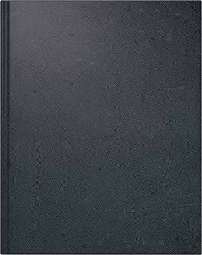 rido/idé 702407490 Buch-/Managerkalender TM (2 Seiten = 1 Woche, 205 x 260 mm, Kunstleder-Einband Belnova, Kalendarium 2020) schwarz -