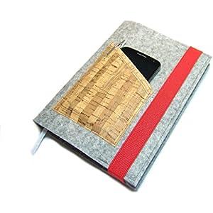 Kalenderhülle Hülle Einband Wollfilz Filz Kork für Din A5 Buchkalender, Notizbuch