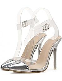 Zapatos de mujer de charol PVC Primavera Otoño Club Shoes Tacones Stiletto Heel punta estrecha para oficina y...