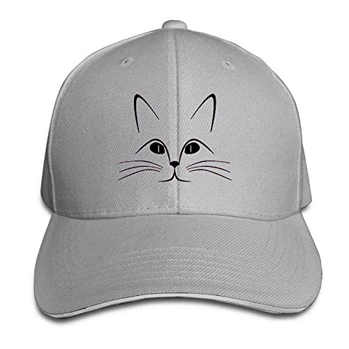 Suxinh Baseball Caps Cat Face Unisex Snapbacks Cap Vintage Trucker Hat