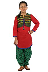 Kids On Board Red and Green Suit set with Jacket