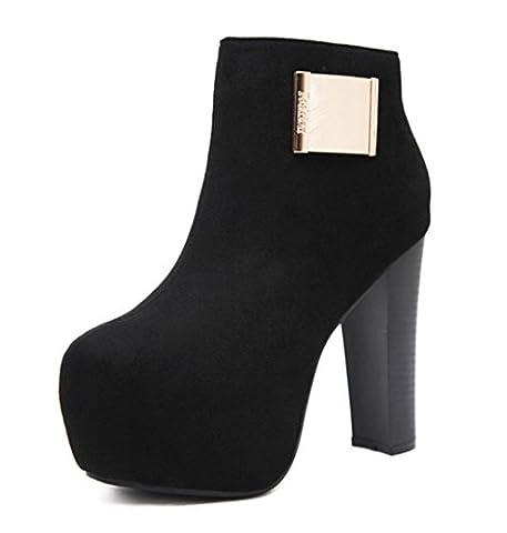 DZW Chaussures à talons sexy à talons hauts Chaussures à talons hauts à talons hauts , 36 , black Personnalité