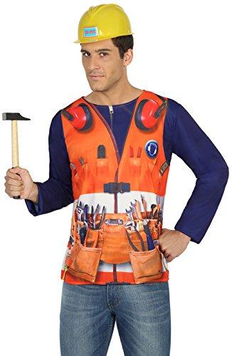 ATOSA 29770 Kostüm Zubehör, Herren, mehrfarbig, Größe - Bauarbeiter Kostüm Für Erwachsene