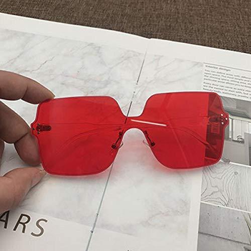 CYCY In Super Fire Europe und den USA 2019 integrierte rahmenlose Sonnenbrillen für Herren und Damen trendrot Big Box Sonnenbrillen schwarz, Big red