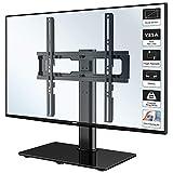 1home Fernsehtisch Tischständer Standfuss TV Ständer LCD/LED/Plasma TVs Schwenkbar Höhenverstellbar für 26-55 Zoll, Max.VESA 400x400