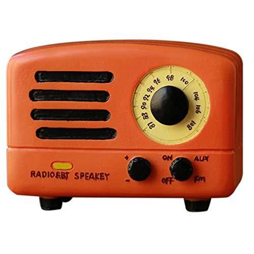 JVSISM Retro Radio Spiel Uhr Haupt Dekorationen 1 Stück Klassische Quadratische Hand Kurbel Exquisite Retro Spiel Uhr Geschenke Orange Gelbes Schloss im Himmel