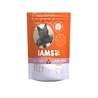 IAMS for Vitality Adult Dry Cat Food with Salmon, 3 kg 9