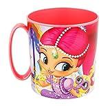 Theonoi - Tazza in plastica da 350 ml, a Scelta: Minnie Princess Frozen Paw Patrol Ladybug Pony Sofia/Tazza in plastica Senza BPA, Adatta al Forno a microonde, Regalo per Ragazza Shimmer And Shine
