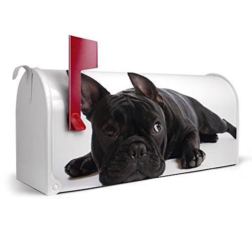 banjado-weier-Amerikanischer-Briefkasten-USA-Mailbox-17cm-x-22cm-x-51cm-mit-Motiv-Bulldogge