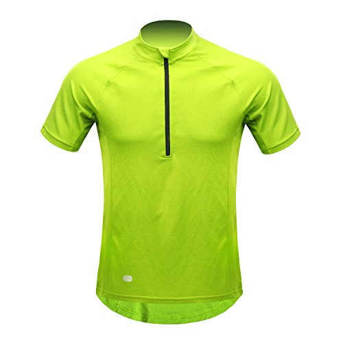 INBIKE Radtrikot Herren Damen Kurzarm Ärmellos Shirt Jersey Fahrradtrikot Aus Elastischem Atmungsaktivem Schnell Trockendem Stoff(Grün,XL)
