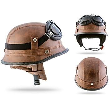 moto helmets d33 set braincap leder wehrmachts helm. Black Bedroom Furniture Sets. Home Design Ideas